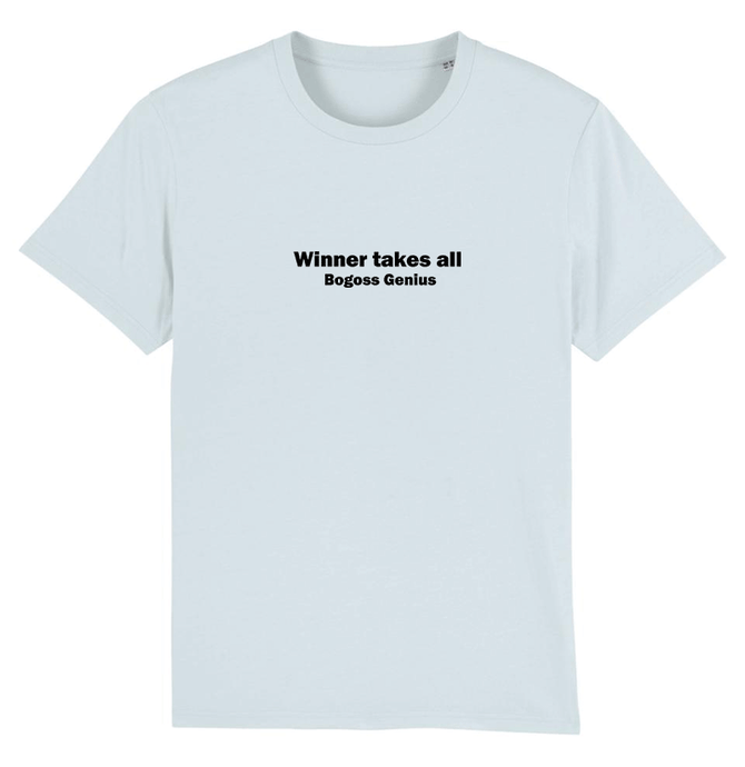 Winner takes all tee shirt bleu ciel - bogossgenius