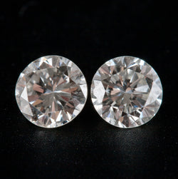 Natural Round Cut I Color I1 Clarity Loose Diamond Set .44ct Each .88ctw