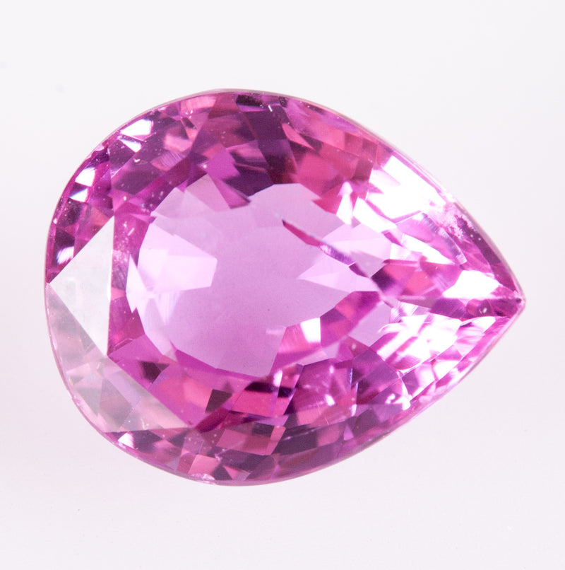 Natural Pink AAA Loose Pear Sapphire W/ GIA Gemstone Report 2.92ct