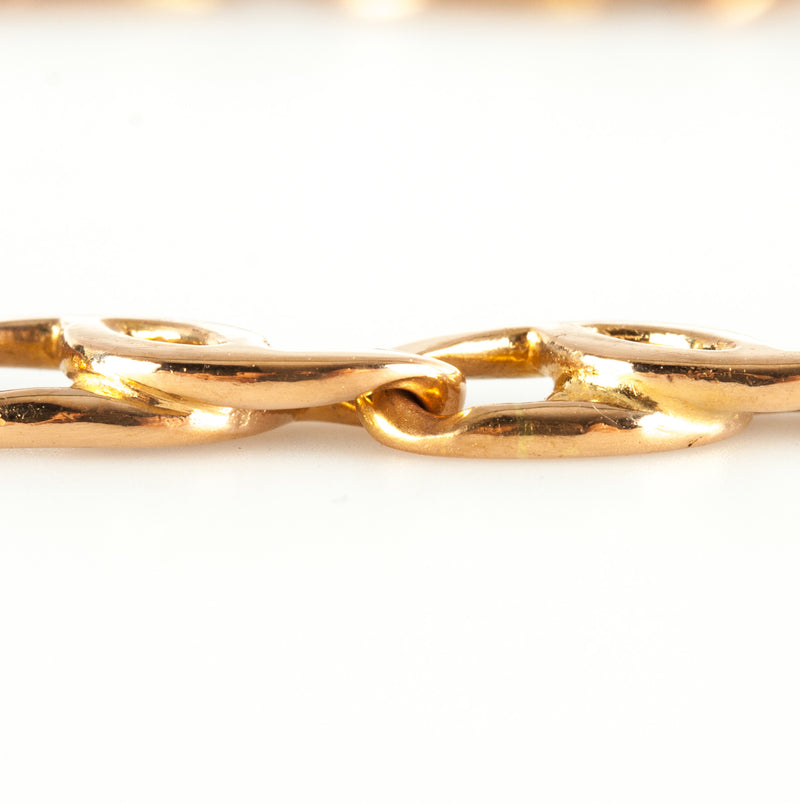 "22k Yellow Gold Anchor Style Link Bracelet 21.25g 8.5"" Length"