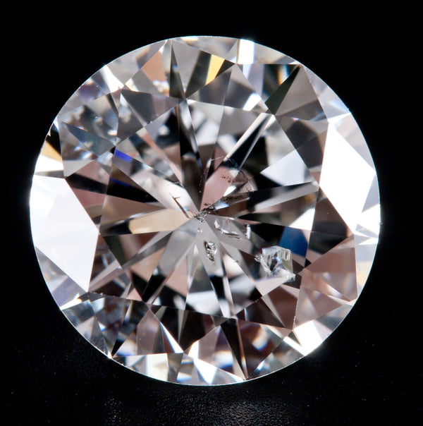 Natural Round Cut G Color SI3 Clarity Loose Diamond 2.46ct W/ EGL Certification
