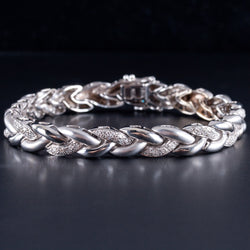 Ladies Beautiful 14k White gold Round Cut Diamond Tennis Bracelet 1.75ctw