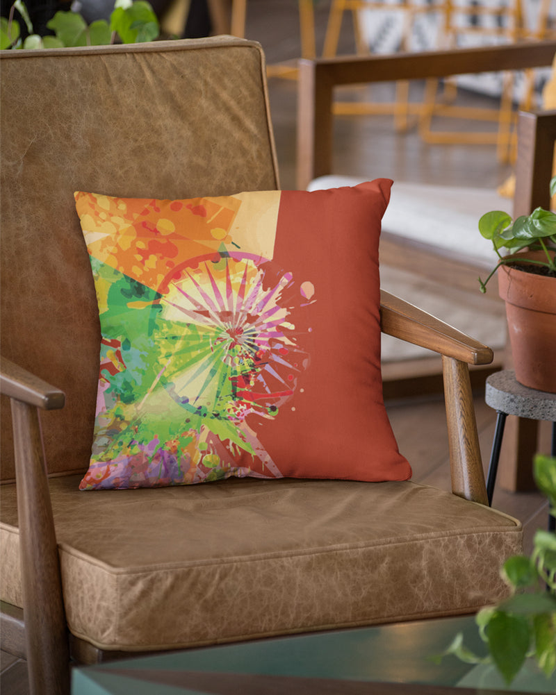 Colorful indian scenary cushion