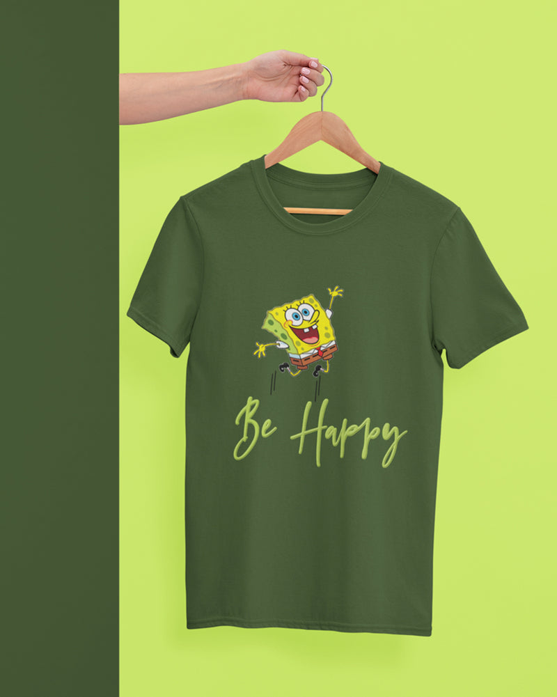 Be happy Half Sleeve T-Shirt