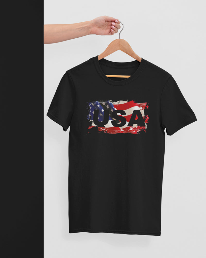 USA Half Sleeve T-Shirt