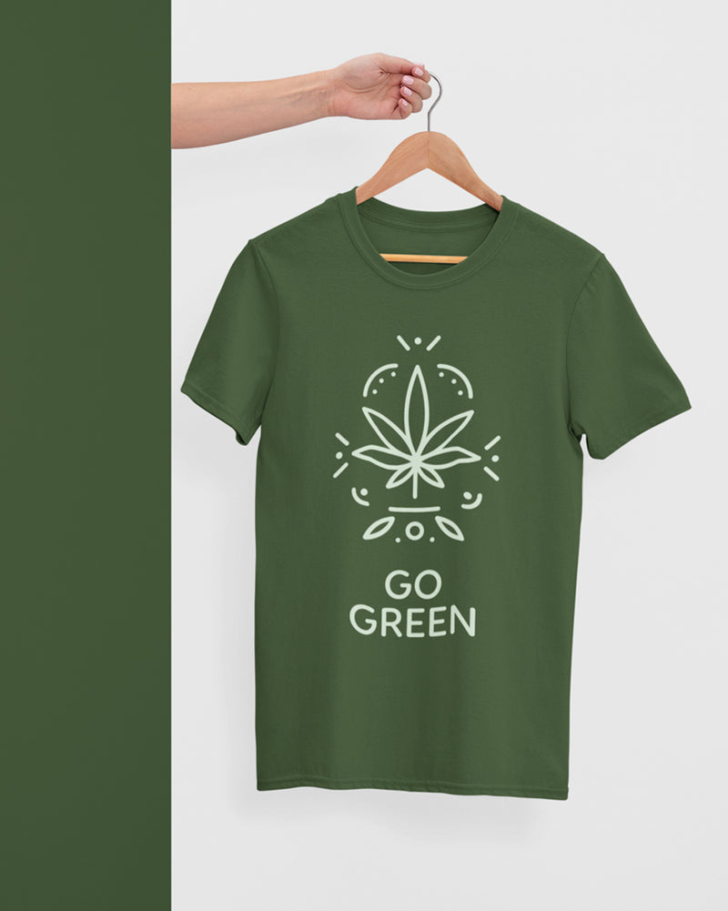 Go green Half Sleeve T-Shirt