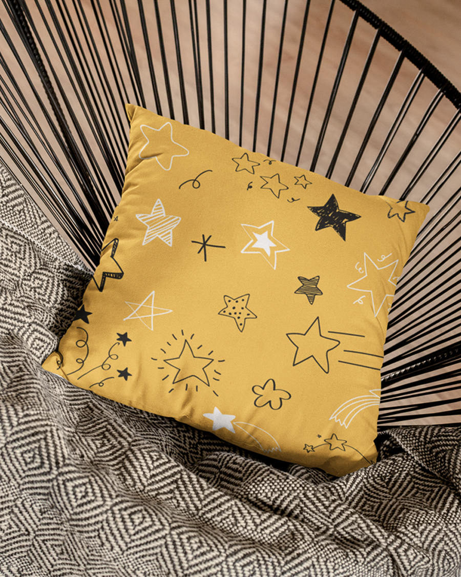 Star Glittering Cushion Cover