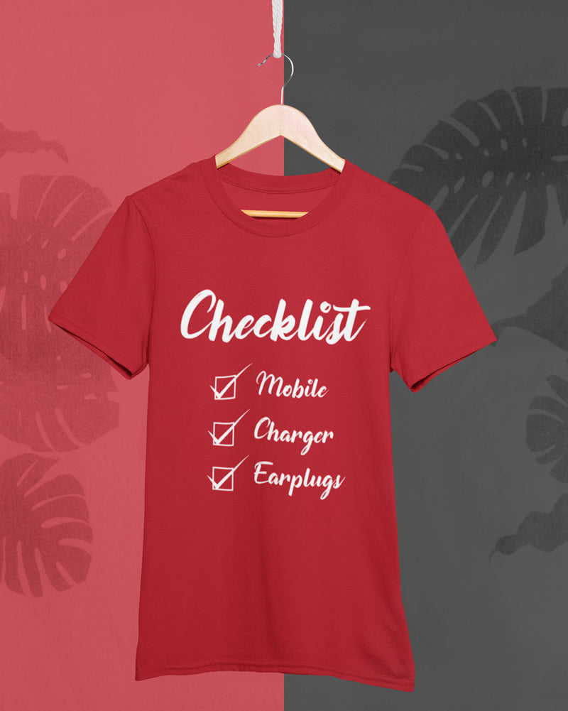 Checklist Half Sleeve T-Shirt