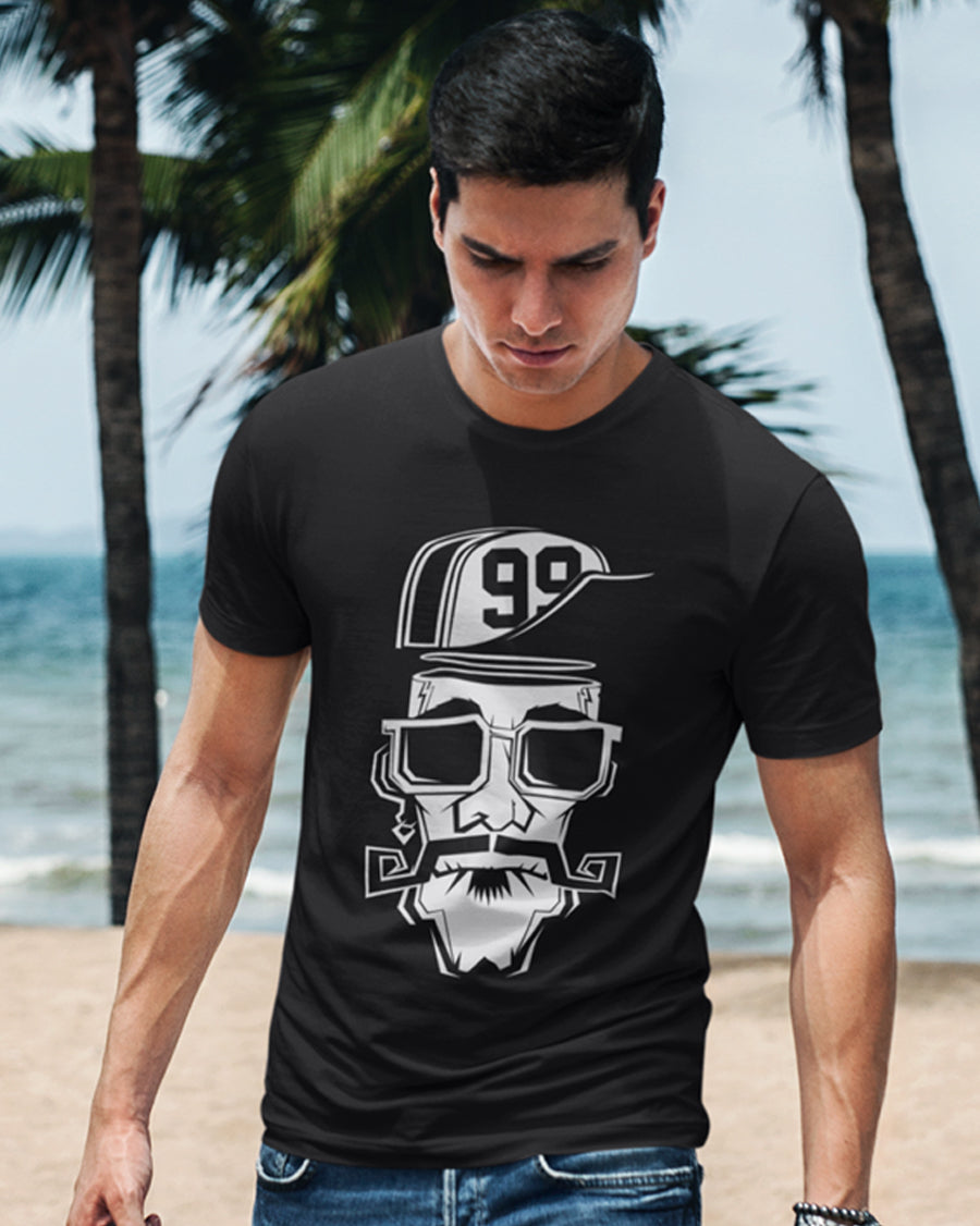 99 beard hat man black Half Sleeve T-Shirt