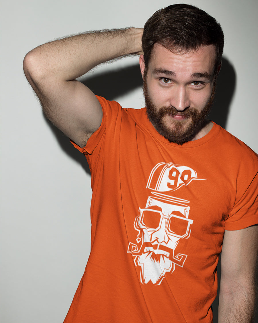 99 beard hat man orange Half Sleeve T-Shirt
