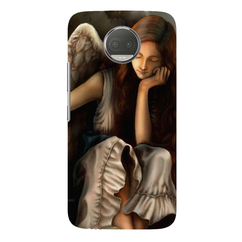 Angel moto G5s plus Mobile Cover