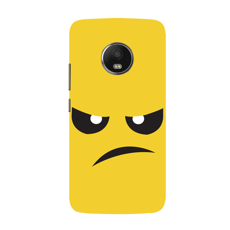 Angry face Moto G5 plus Mobile Cover