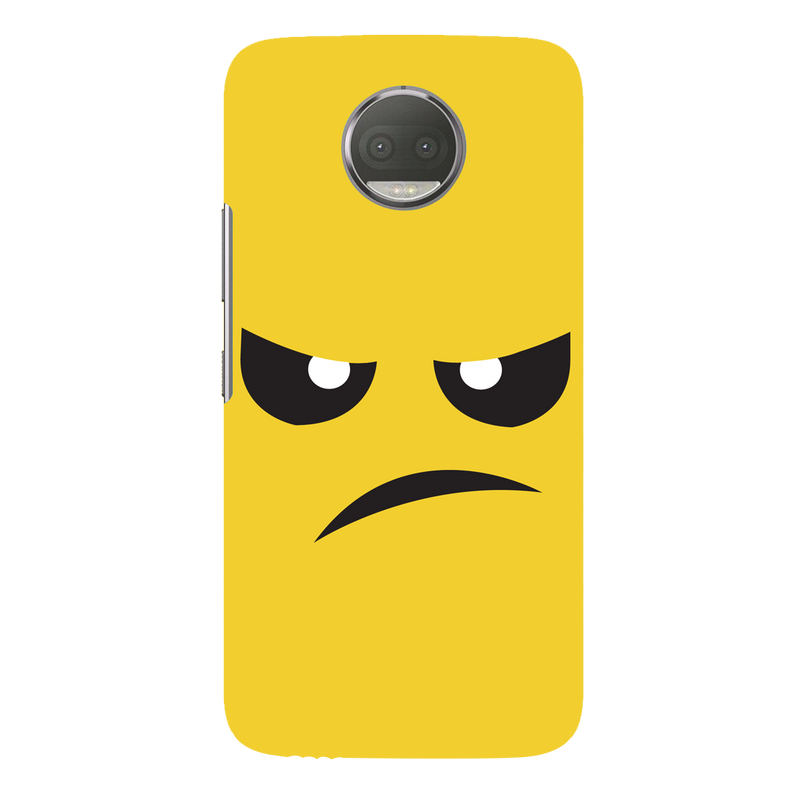Angry face moto G5s plus Mobile Cover