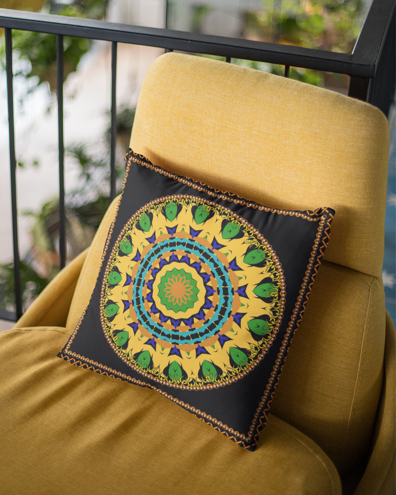 Circular Pattern Cushion Cover