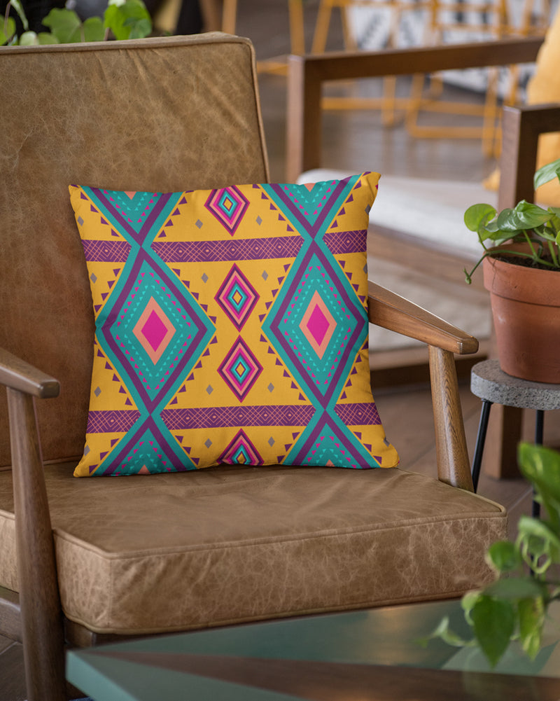 Colorful Geometrical Pattern Cushion Cover