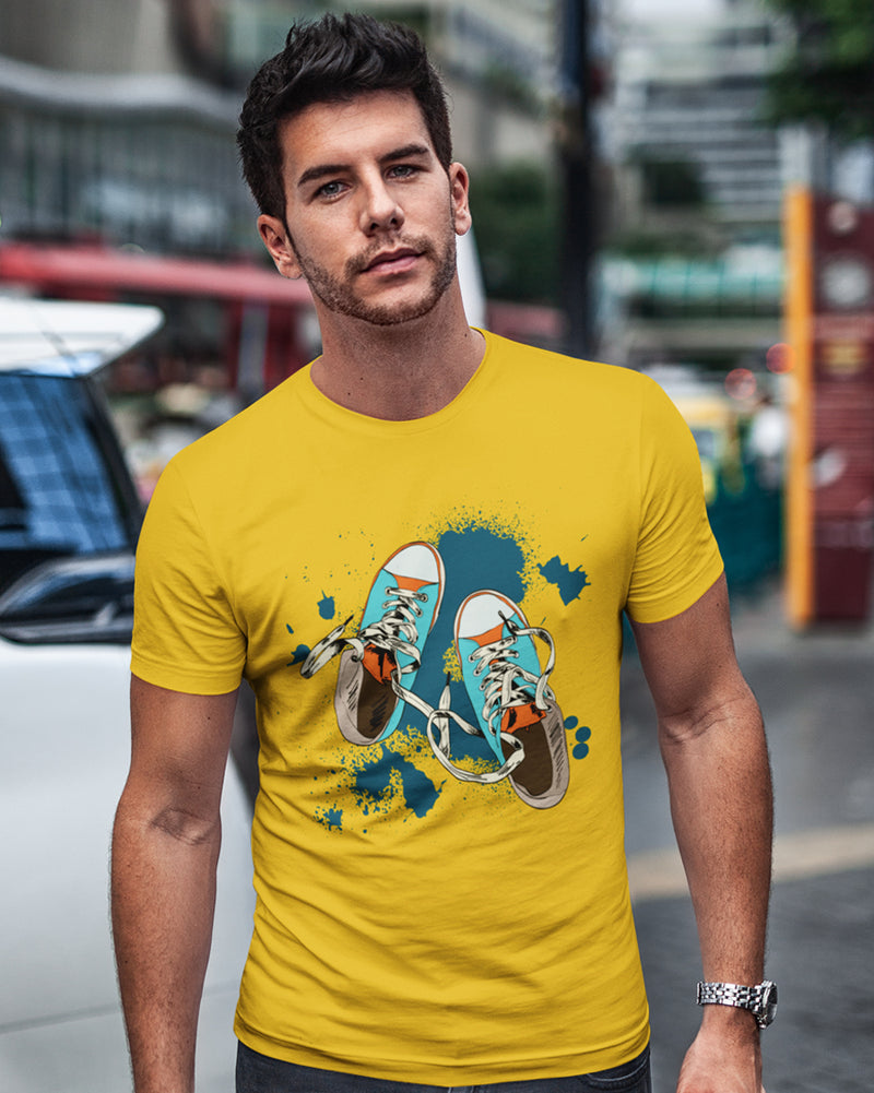 Colorful Shoes Half Sleeve T-shirt