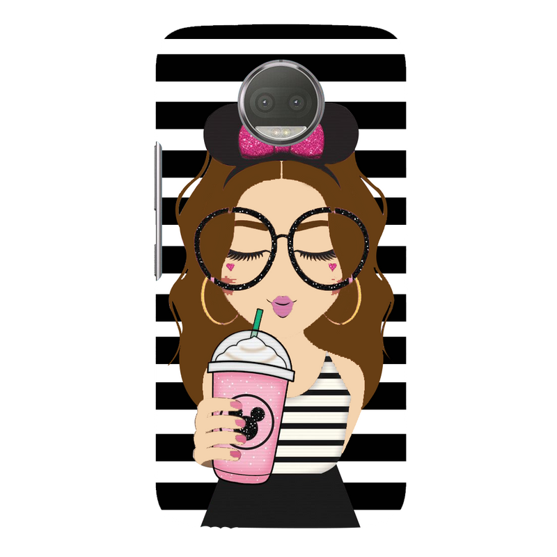 Cute girl moto G5s plus Mobile Cover