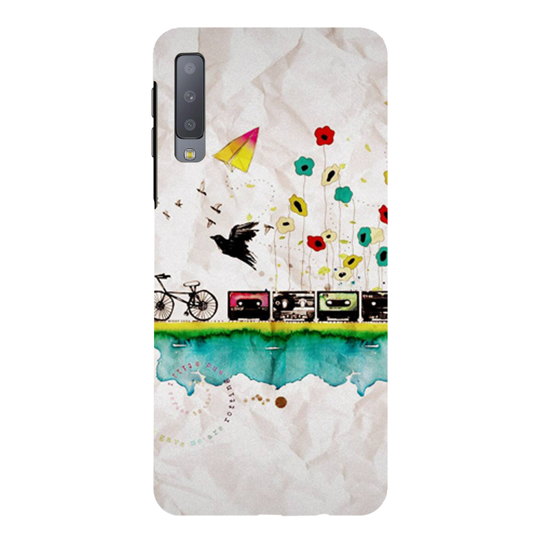 Cycle Samsung A7 Mobile Cover