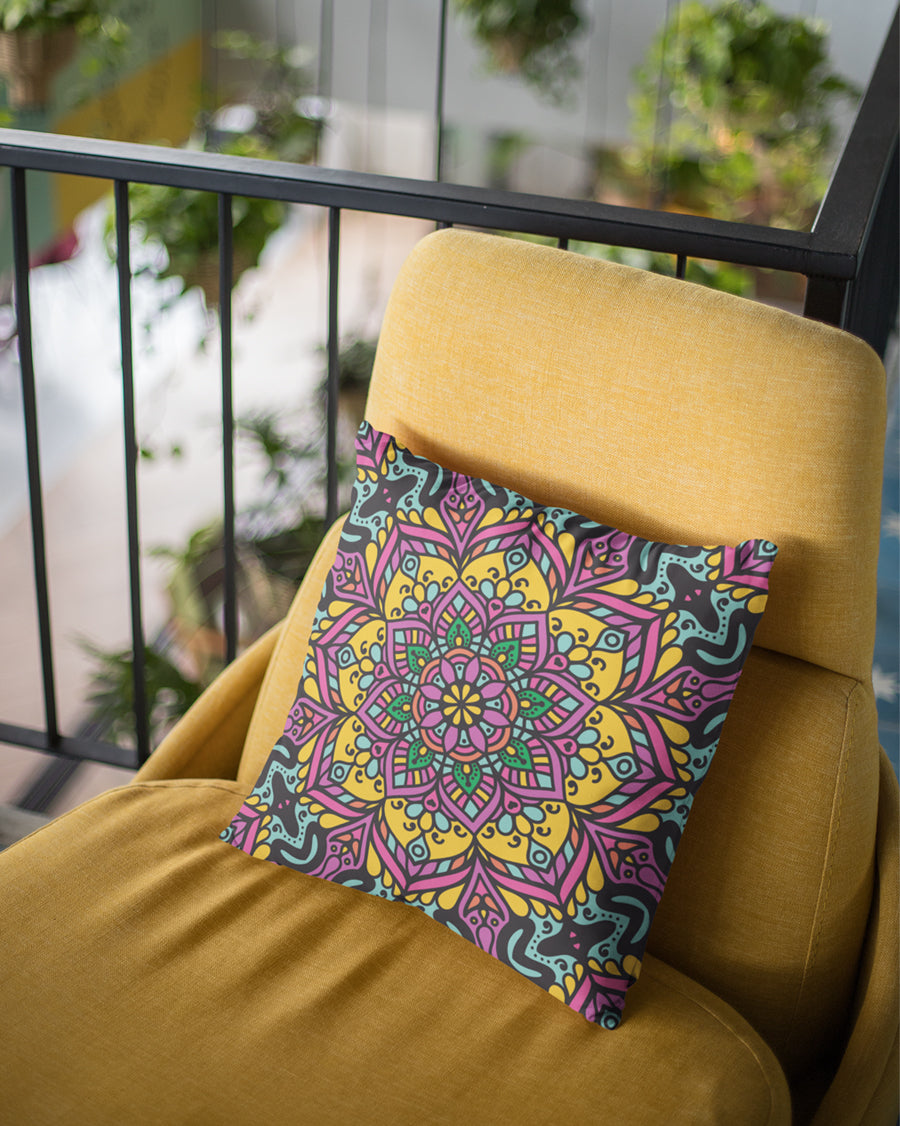 Floral Pattern Cushion Cover