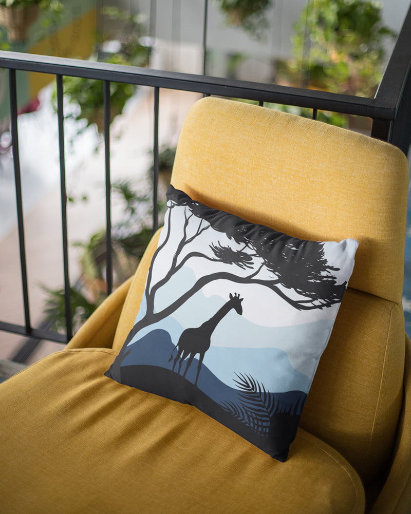Giraffe scenary Cushion Cover