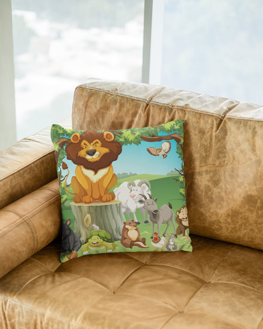 Jungle animals Cushion Cover