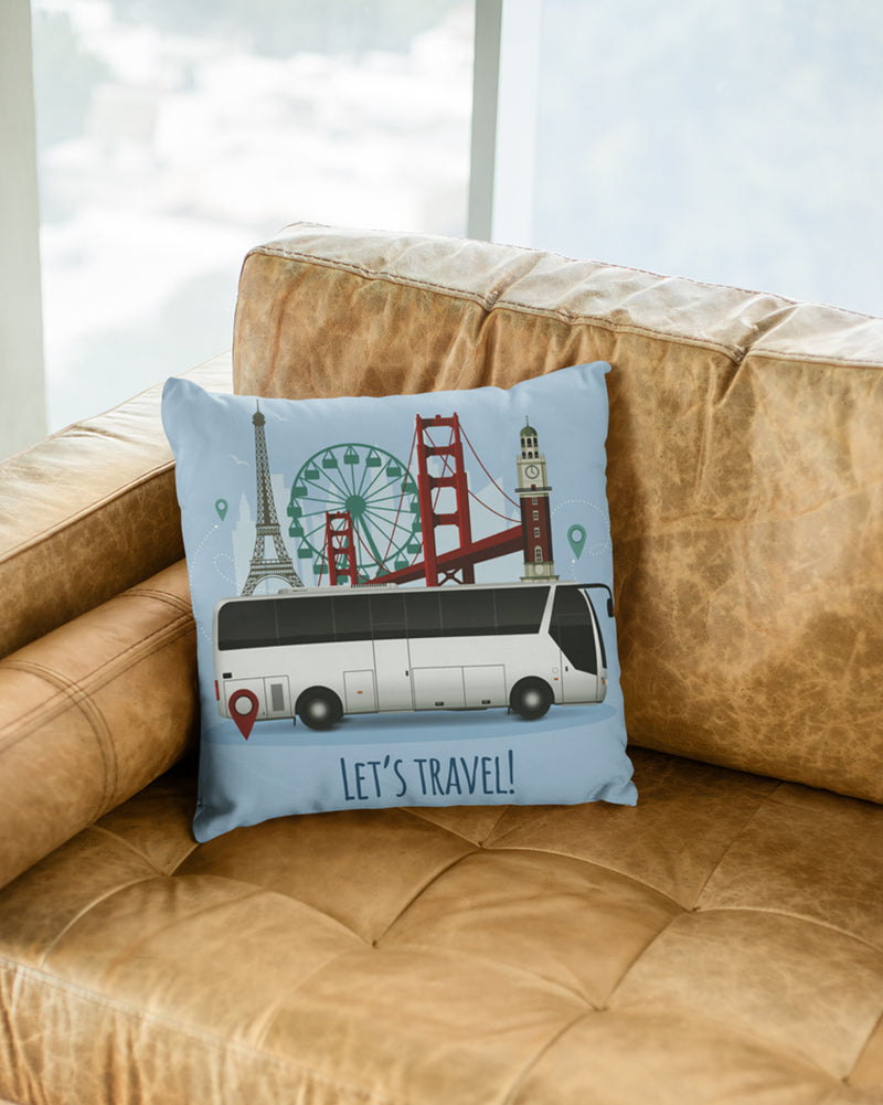 Let_s travel Cushion Cover