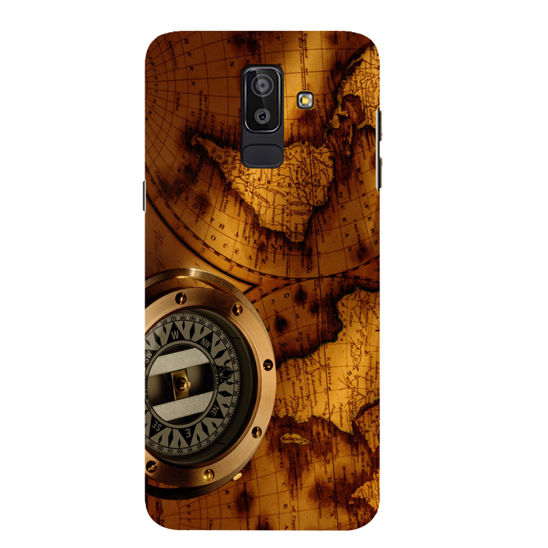 Map compass Samsung J 8 Mobile Cover