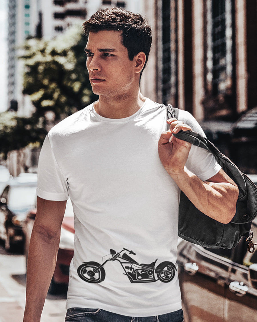 Motorbike vector White Half Sleeve T-Shirt