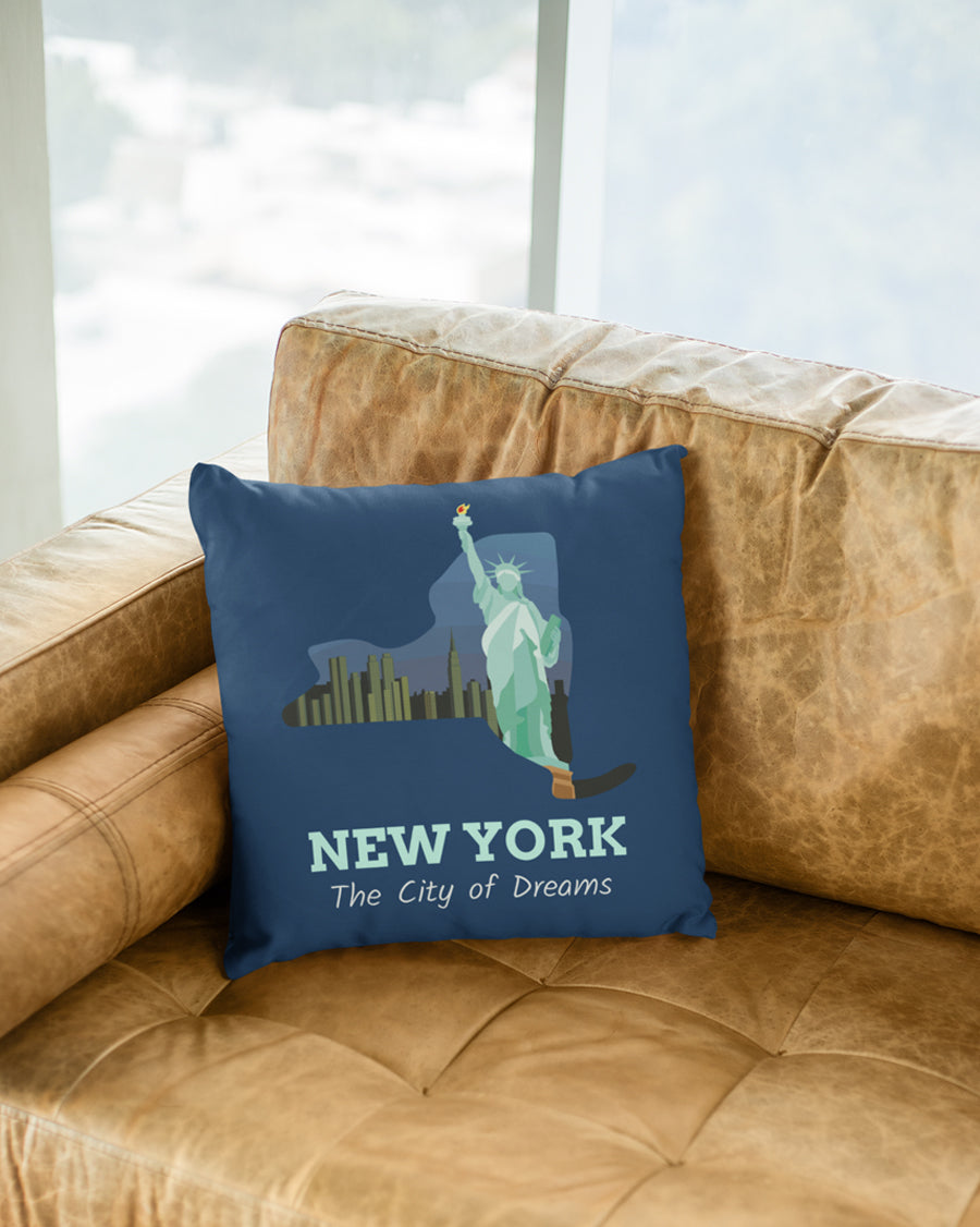 New york the city of dreams Cushion Cover