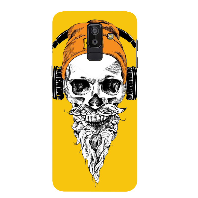 Skull with headphone Samsung J 8 Mobile Cover