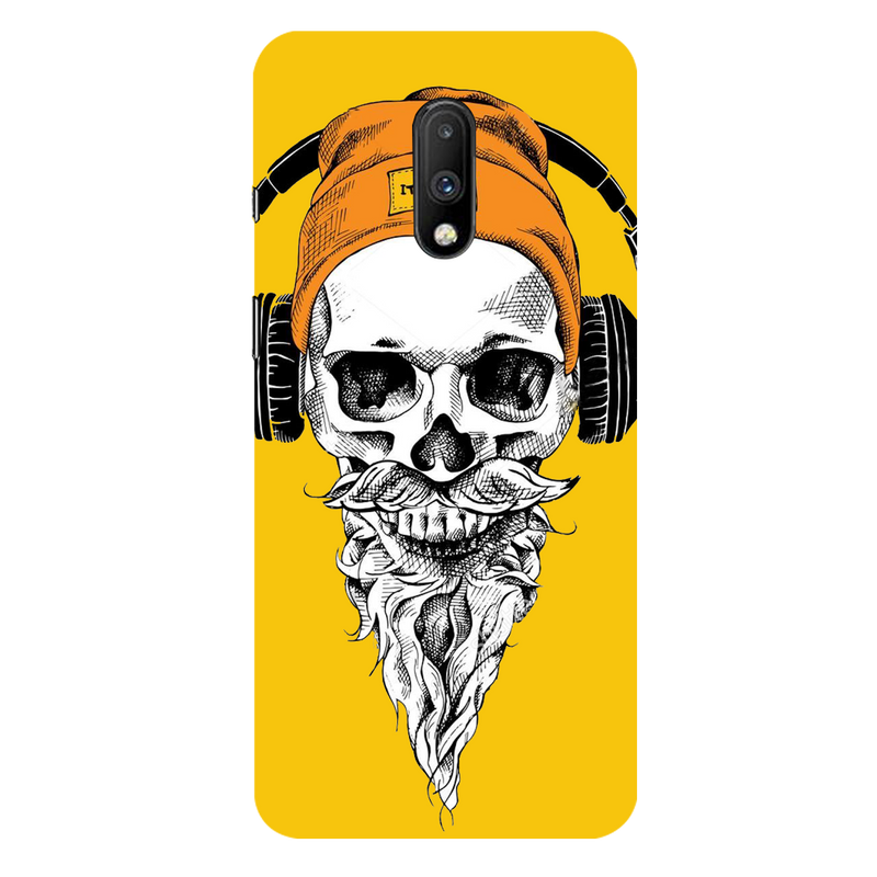 Skull with headphone OnePlus 7 Mobile Cover