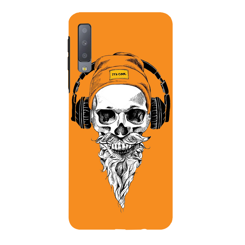 Skull with Headphone Samsung A7 Mobile Cover