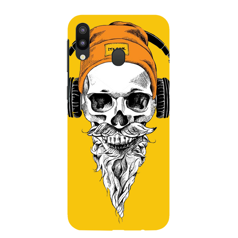 Skull with headphone Samsung galaxy m 20 Mobile Cover