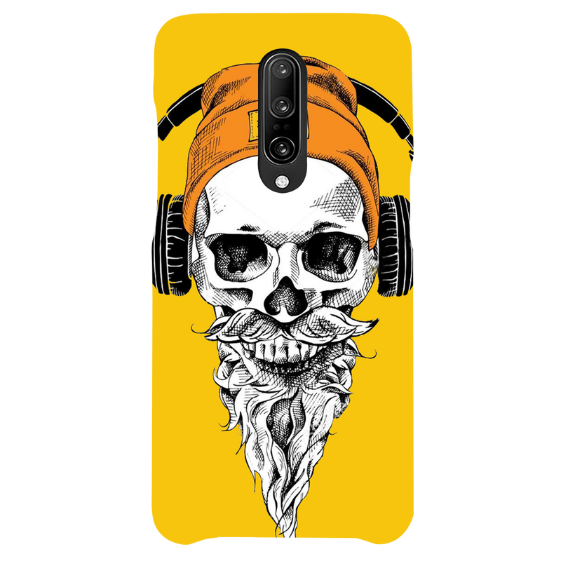 Skull with headphone OnePlus 7 Pro Mobile Cover