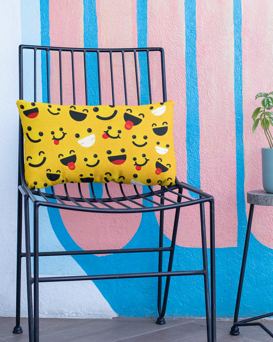 Smiley cushion pillow cover