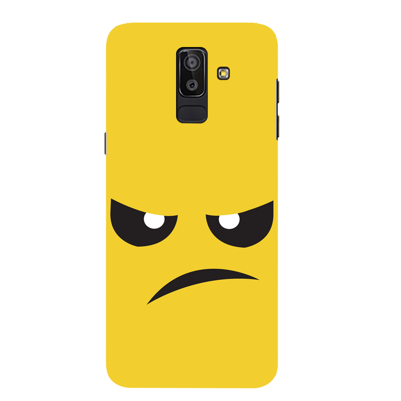 Angry  face Samsung J 8 Mobile Cover