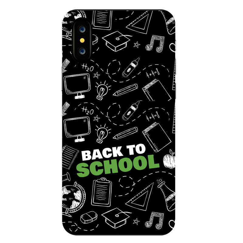Back to school Apple iPhone X Mobile Cover
