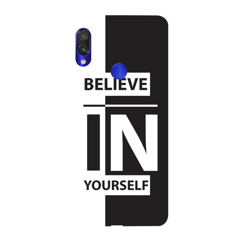 Believe in urself Redmi Y3 Mobile Cover