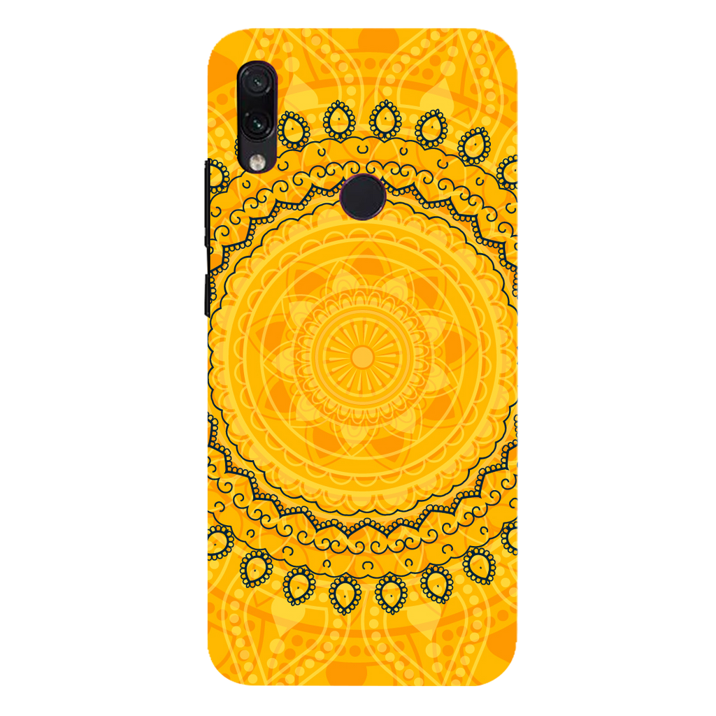 Circular Pattern Redmi 7 Mobile Cover