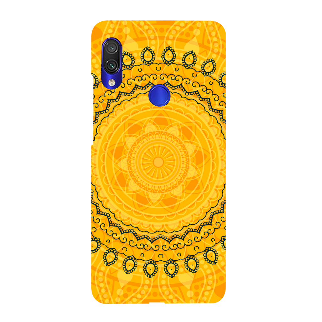Circular Pattern Redmi Y3 Mobile Cover