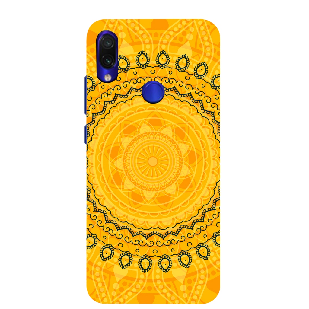 Circular Pattern Redmi Note 7 Mobile Cover