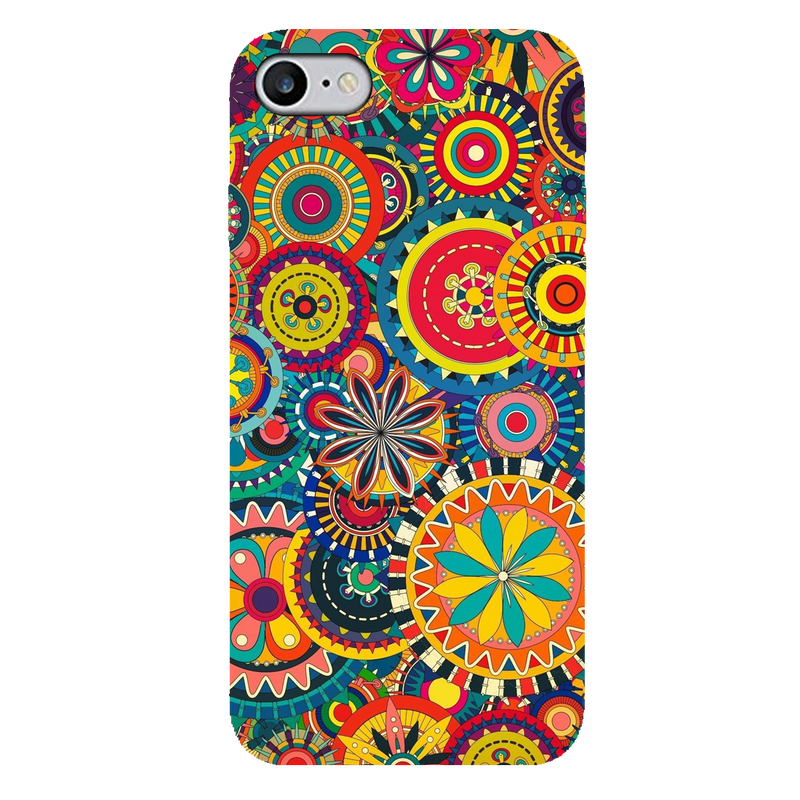Colored circular pattern  iPhone 7 Mobile Cover