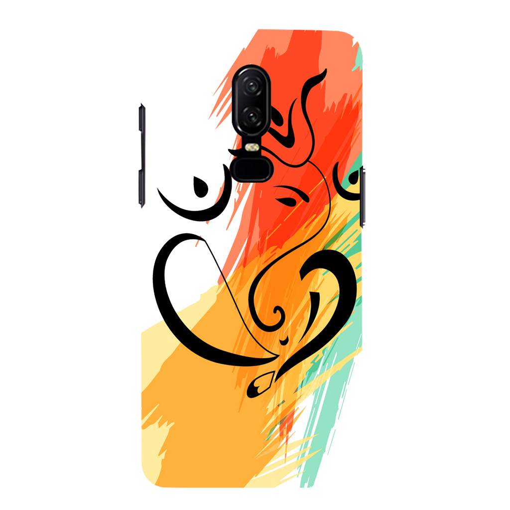 Colored Ganesh Ji OnePlus 6 Mobile Cover