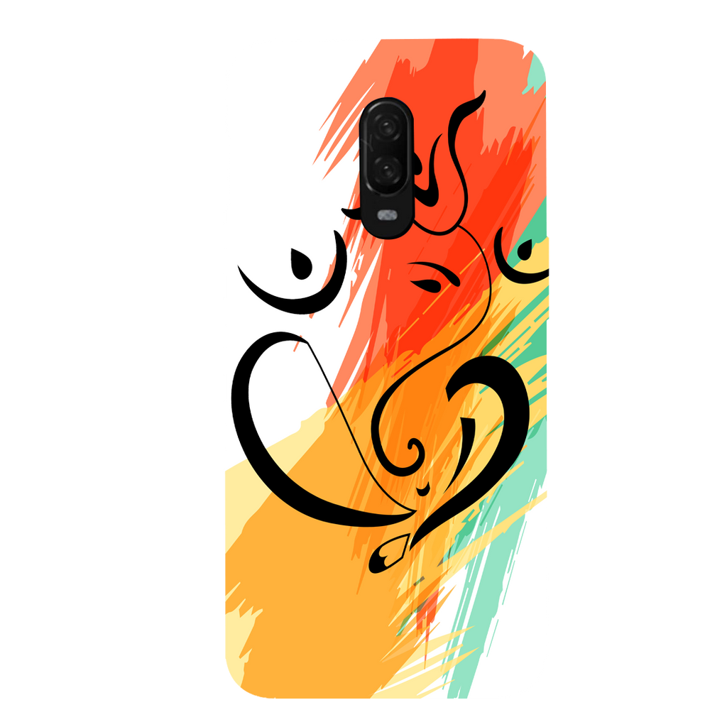Colored Ganesh Ji OnePlus 6T Mobile Cover