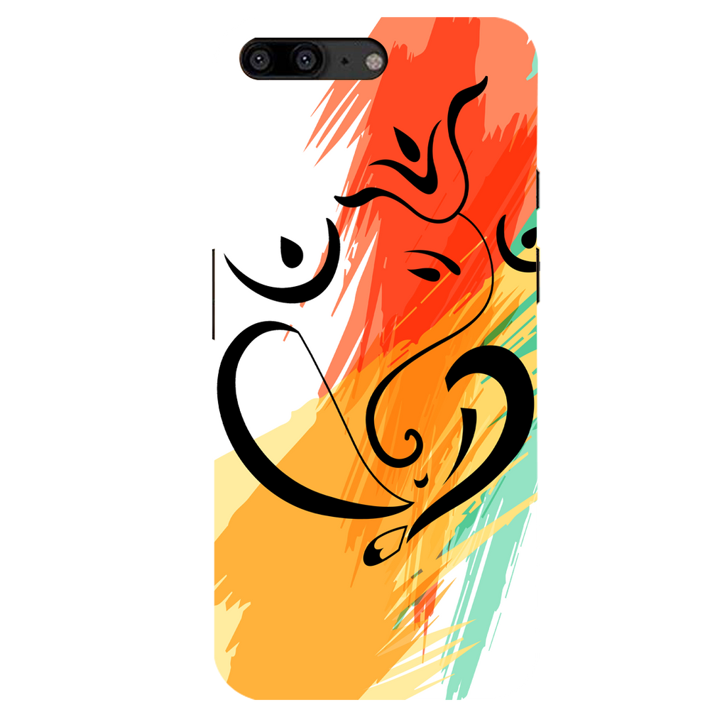 Colored Ganesh Ji OnePlus 5 Mobile Cover