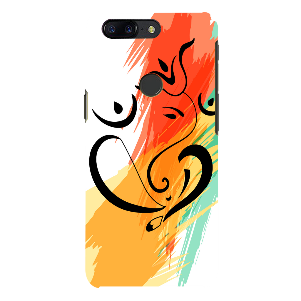 Colored Ganesh Ji OnePlus 5T Mobile Cover
