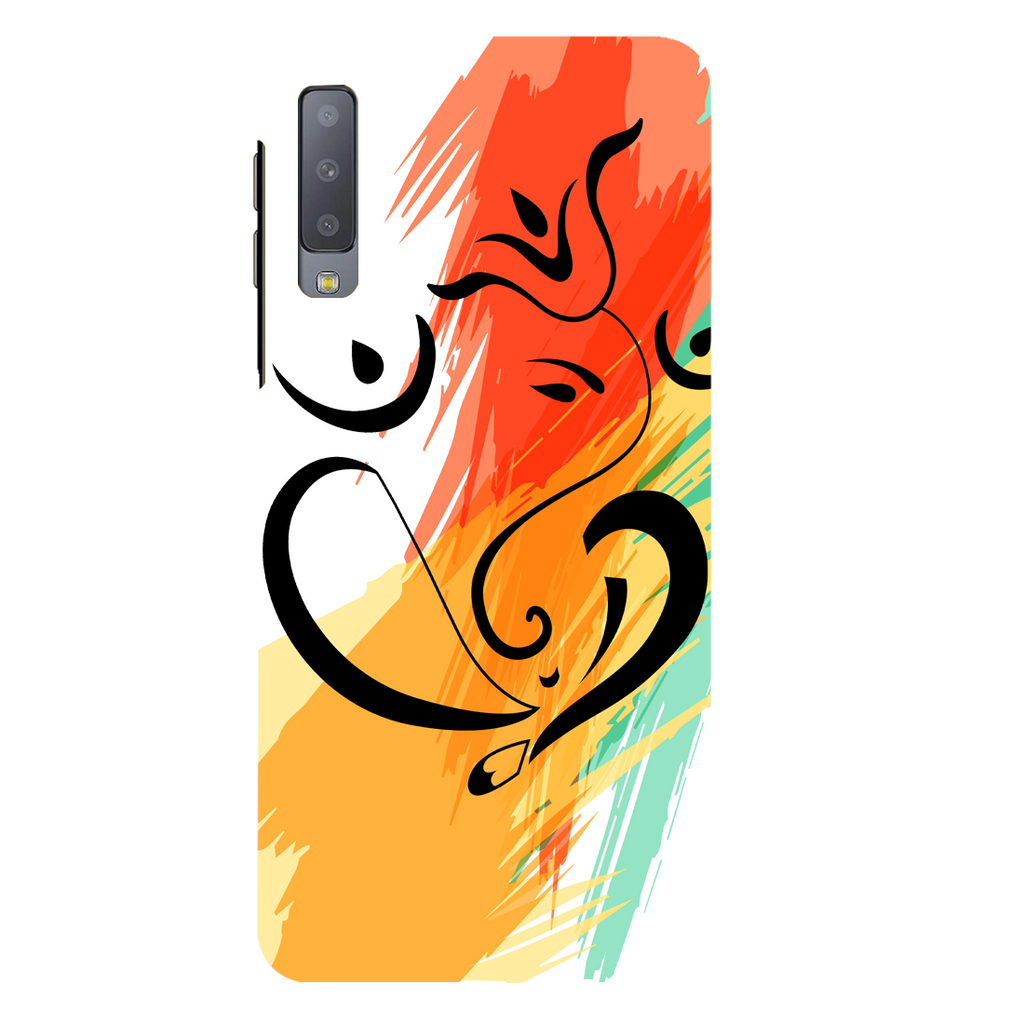 Colored Ganesh Ji Samsung A7 Mobile Cover