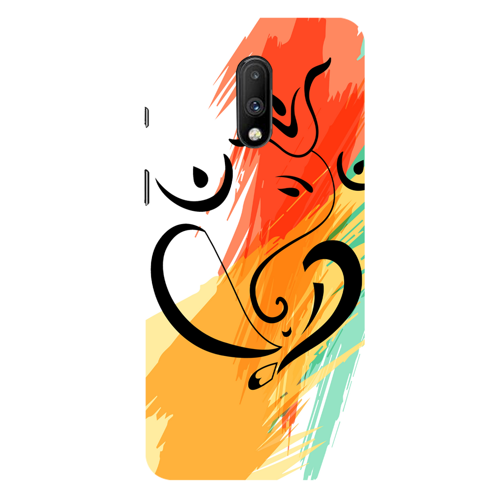 Colored Ganesh Ji OnePlus 7 Mobile Cover