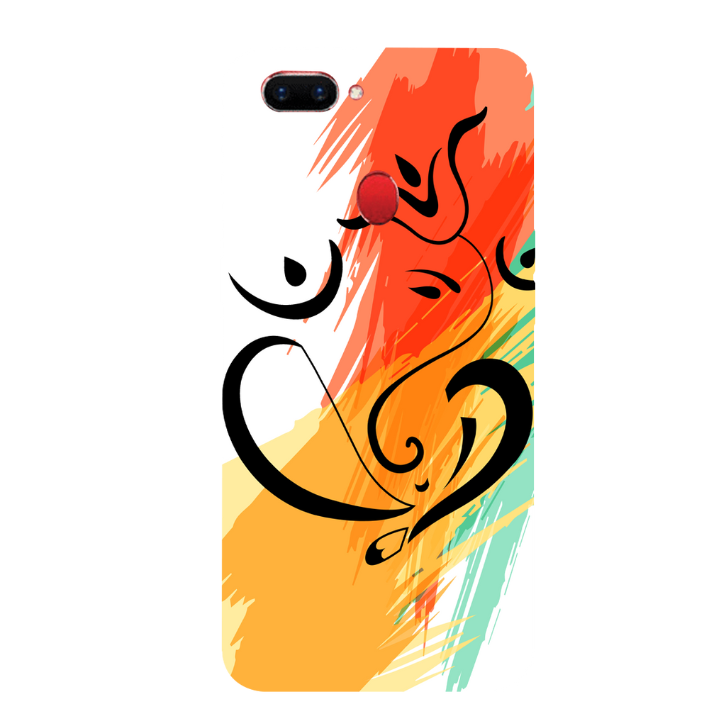 Colored Ganesh Ji Oppo A5s Mobile Cover