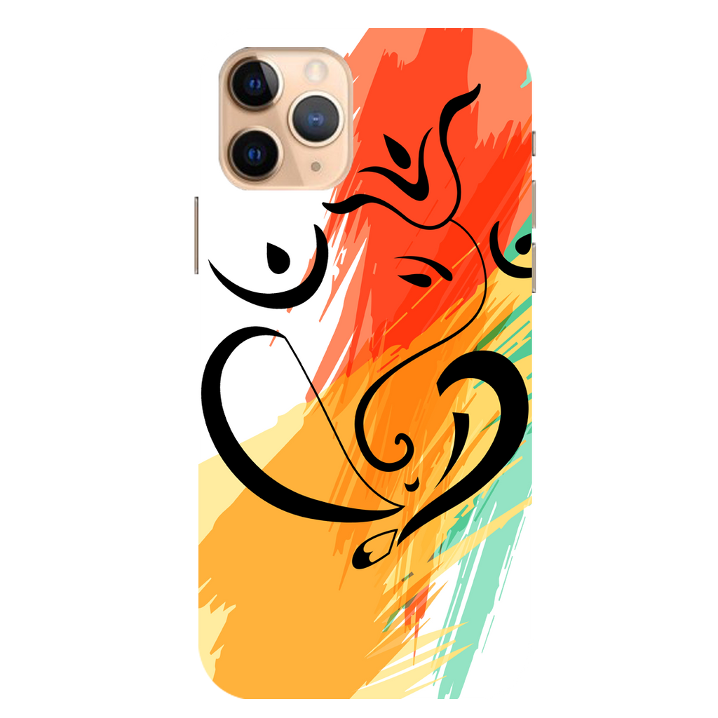 Colored Ganesh Ji Apple iPhone 11 Pro Mobile Cover